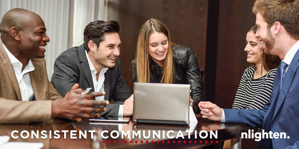 nlighten Blog -A 5 Step Guide to Retaining Clients. Consistent Communication.