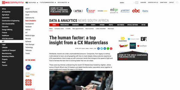 The human factor: a top insight from a CX Masterclass