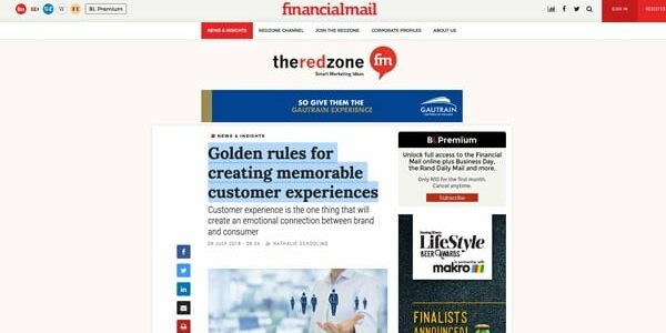 Golden rules for creating memorable customer experiences