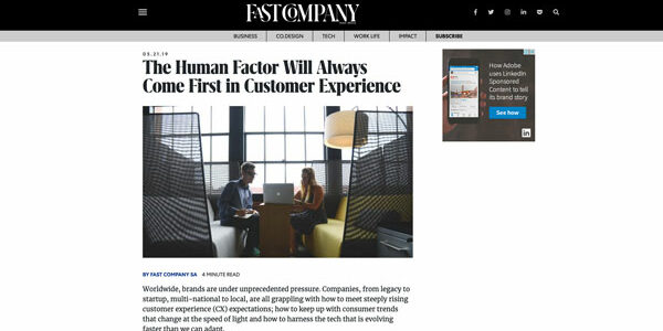 The Human Factor Will Always Come First in Customer Experience