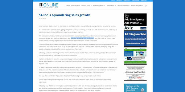 SA Inc is squandering sales growth