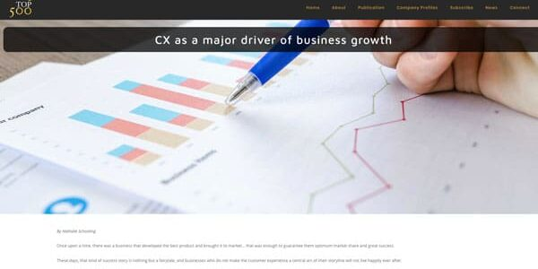 CX as a major driver of business growth