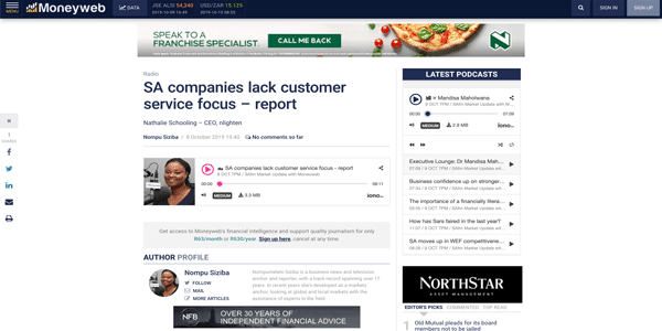 SA companies lack customer service focus – report