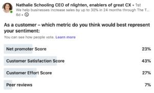 NPS as a metric
